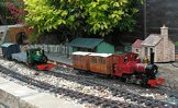 Image of trains on Roy Sterry's garden railway