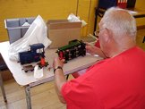 Image of a battery powered diesel being inspected by Graham