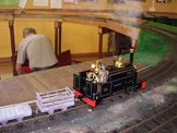 Image of a quarry Hunslet locomotive