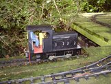Image of a 16mm scale battery powered diesel locomotive