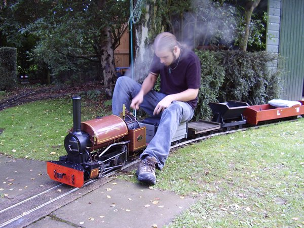 Image of a 5 inch gauge steam locomotive