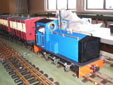 Image of a 16mm battery powered diesel locomotive