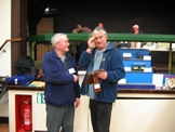 Jim Elliot receiving his modelling award from Brian Walton