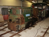 Image of a diesel locomotive in the shed